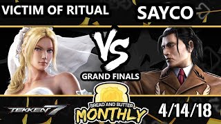 BnB 1 Tekken 7 - Victim of Ritual  (Nina) Vs. Sayco (Dragunov) - T7 Grand Finals