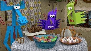 Бумажки -Сборник серий 36-45  - мультфильм про оригами для детей