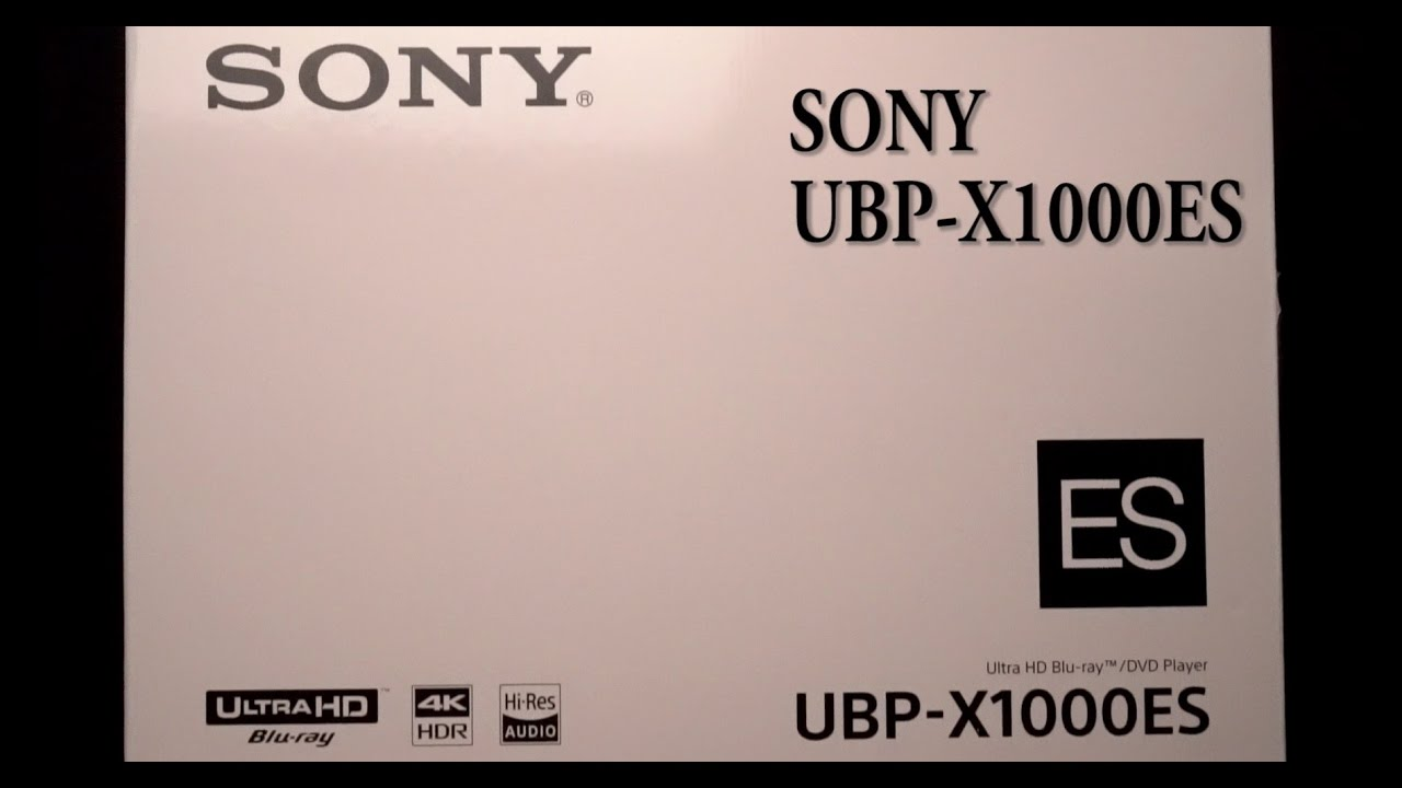 sony ubp x1000es. sony ubp-x1000es 4k bluray quick unboxing and setup overview ubp x1000es