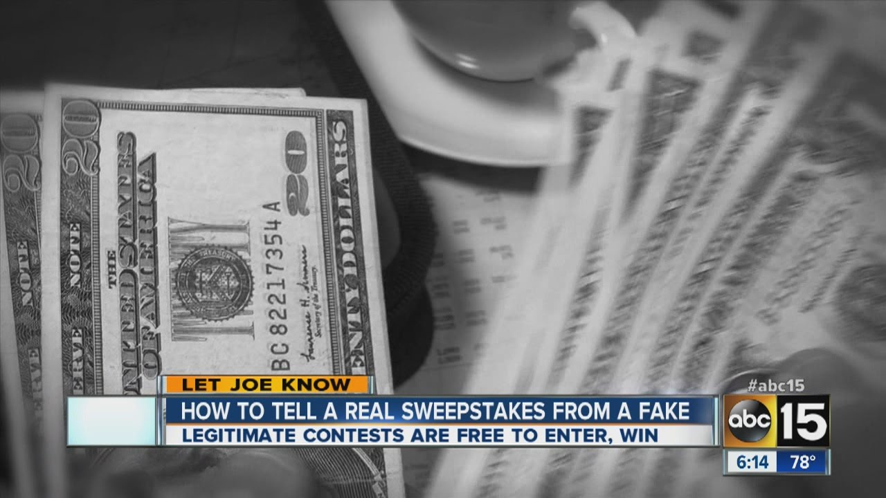 How to tell real sweepstakes from fake
