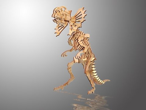 CHICO CRAFT Ceratopsia 3D Wooden Puzzle