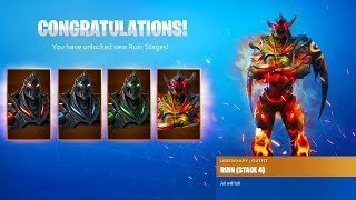 *NEW* RUIN SKIN STAGES in Fortnite Battle Royale! (FINAL Stage Ruin Skin)