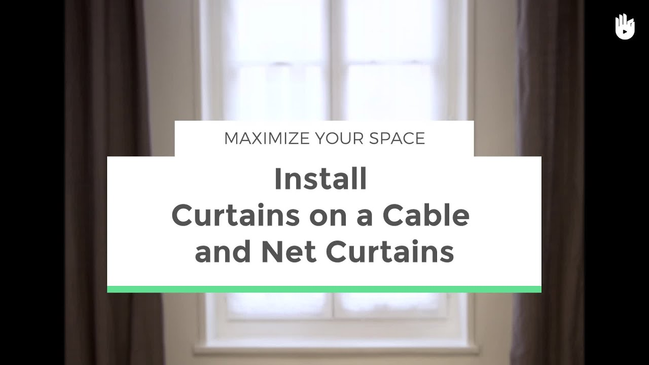 Install Curtains on a Wire and Net Curtains | Maximize your Space ...