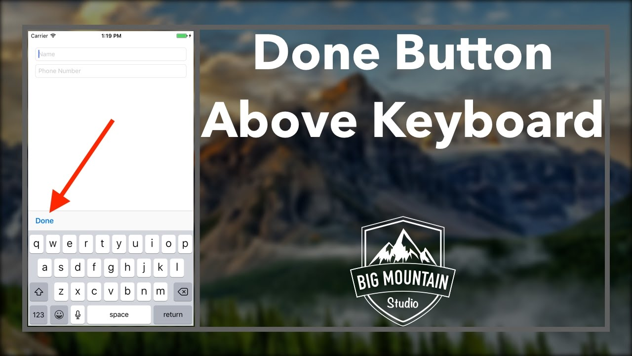 Add Done Button to Close Keyboard (iOS, Xcode 8, Swift 3)