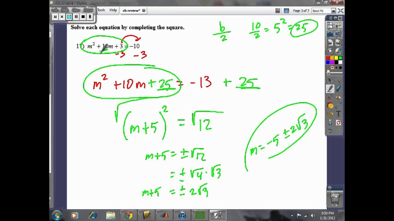 Prentice Hall Algebra 2 Chapter 6 Quiz Answers