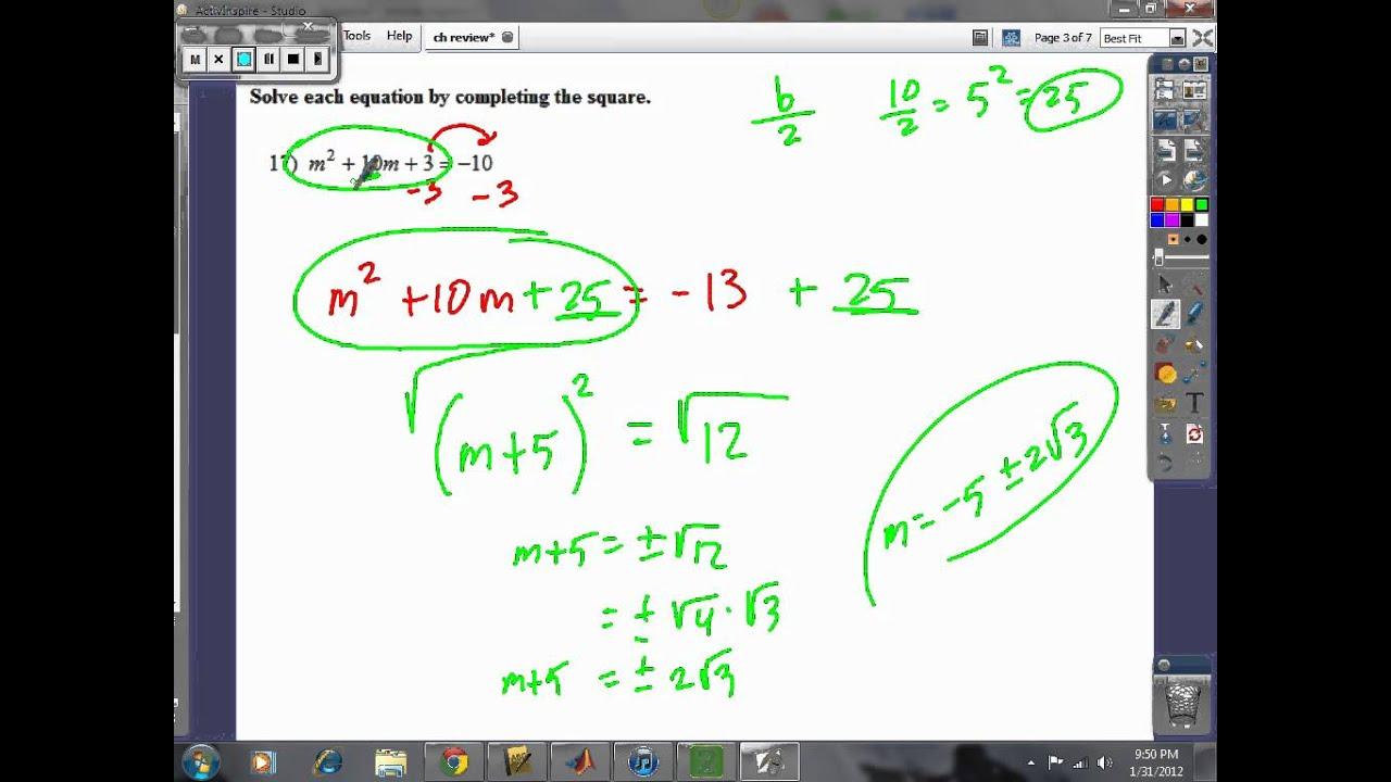 Prentice Hall Algebra 2 Chapter 6 Quiz Answers