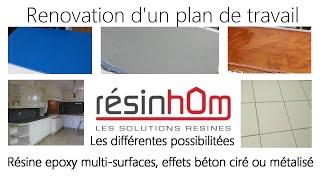 Rénover un plan de travail avec de la résine époxy multi-surfaces