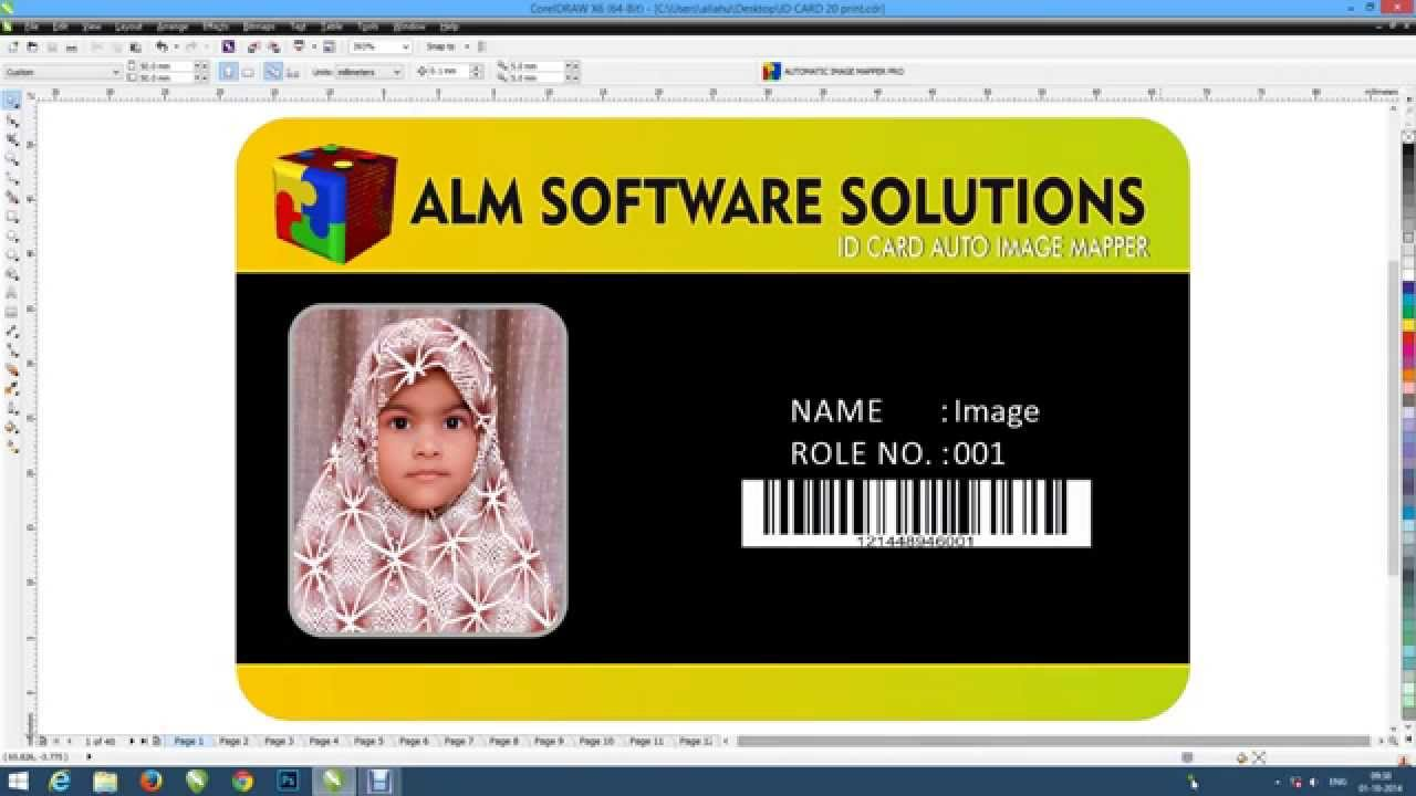 how to make id card insert photo easy and fast corel draw - How To Make Id Card