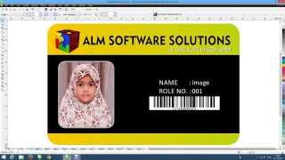 How To make id card insert photo easy and fast corel draw