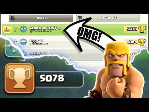 Thumbnail: OMG! WE ARE NUMBER #1 ON THE LEADER BOARD! - INSANE HIGH LEVEL GAME PLAY IN CLASH OF CLANS!
