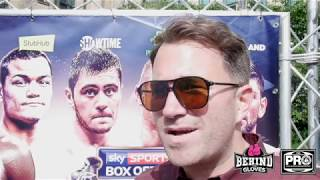EDDIE HEARN GIVES AN UPDATE ON ANTHONY JOSHUA, LOOKING AT DIFFERENT COUNTRIES