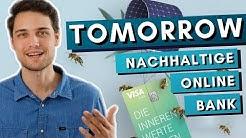 Tomorrow Online Banking - die nachhaltige Online Bank für unser Klima🌱