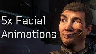 Halo 4 - 5x Facial Animations