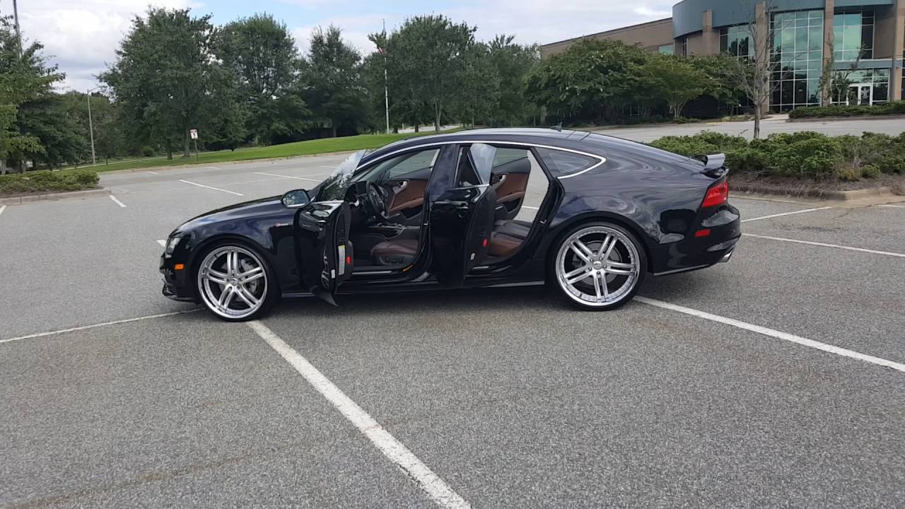 Audi A7 on 22's XIX wheels - YouTube  Audi A S on lexus ls 22s, cadillac dts 22s, range rover 22s, cadillac sts 22s, chrysler 300 22s, pontiac grand prix 22s, dodge journey 22s, chrysler 200 22s, honda accord 22s, hyundai sonata 22s, buick lacrosse 22s, acura tl 22s,