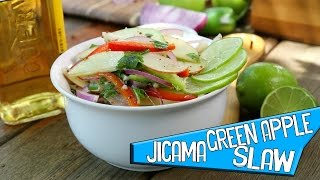 Jicama Green Apple Slaw - Its A Party - Tailgating Side Dish