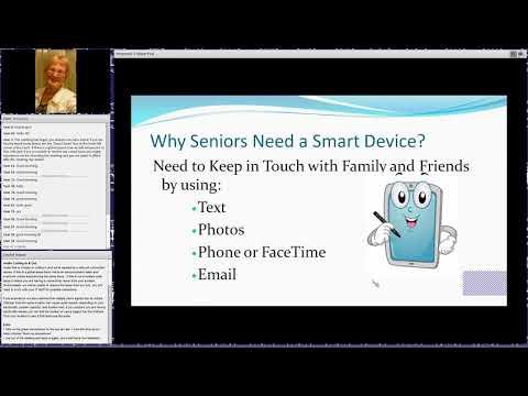 Teaching iPad and iPhone to Seniors 5-6-2019