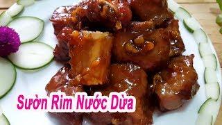 Cách Nấu Món Sườn Rim Nước Dừa Ngon Hết Xảy Cực Đưa Cơm | Góc Bếp Nhỏ