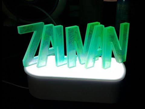 (hawaiian green) Epoxy resin art, letter art - 에폭시 레진 스카시