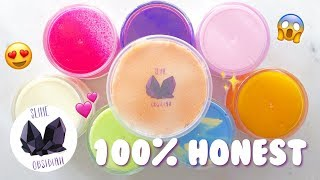 $100 SLIME OBSIDIAN FAMOUS SLIME SHOP REVIEW
