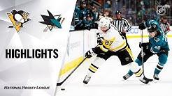 NHL Highlights | Penguins @ Sharks 02/29/20