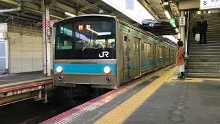 205系 近ヒネHI603編成 阪和線 天王寺駅発車 2018/03/16