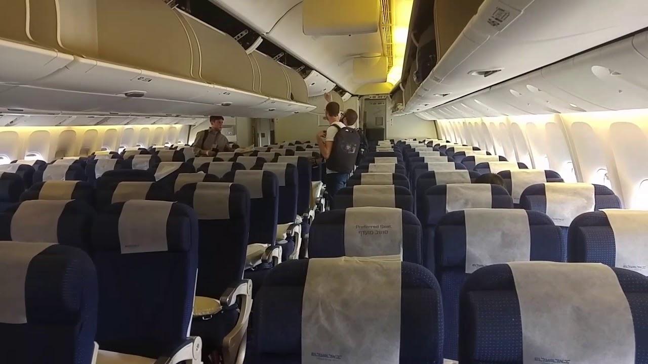 El Al Cabin Inside Boeing 777 747 אלעל Youtube