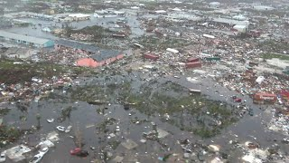 Aerial footage shows total devastation in Abaco, Bahamas after Hurricane Dorian