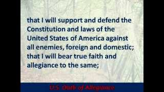 U.S. Oath of Allegiance - Hear and Read the Full Text