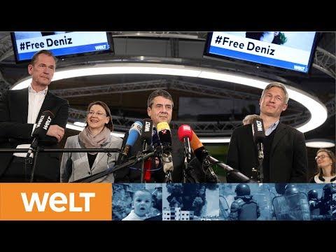 Deniz Yücel ist frei: Pressekonferenz mit Außenminister Sigmar Gabriel live aus dem WELT-Newsroom