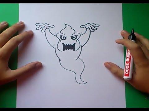 Como Dibujar Un Fantasma Paso A Paso 4 How To Draw A Ghost 4 Youtube