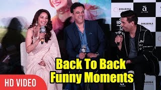 All Funny Moments Back To Back | Madhuri Dixit, Karan Johar | Bucket List Trailer Launch