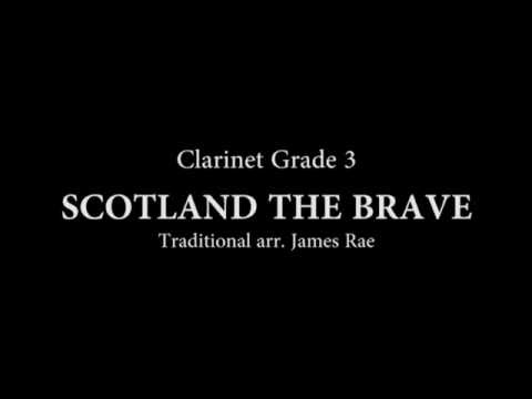 Scotland the Brave for Clarinet and Piano