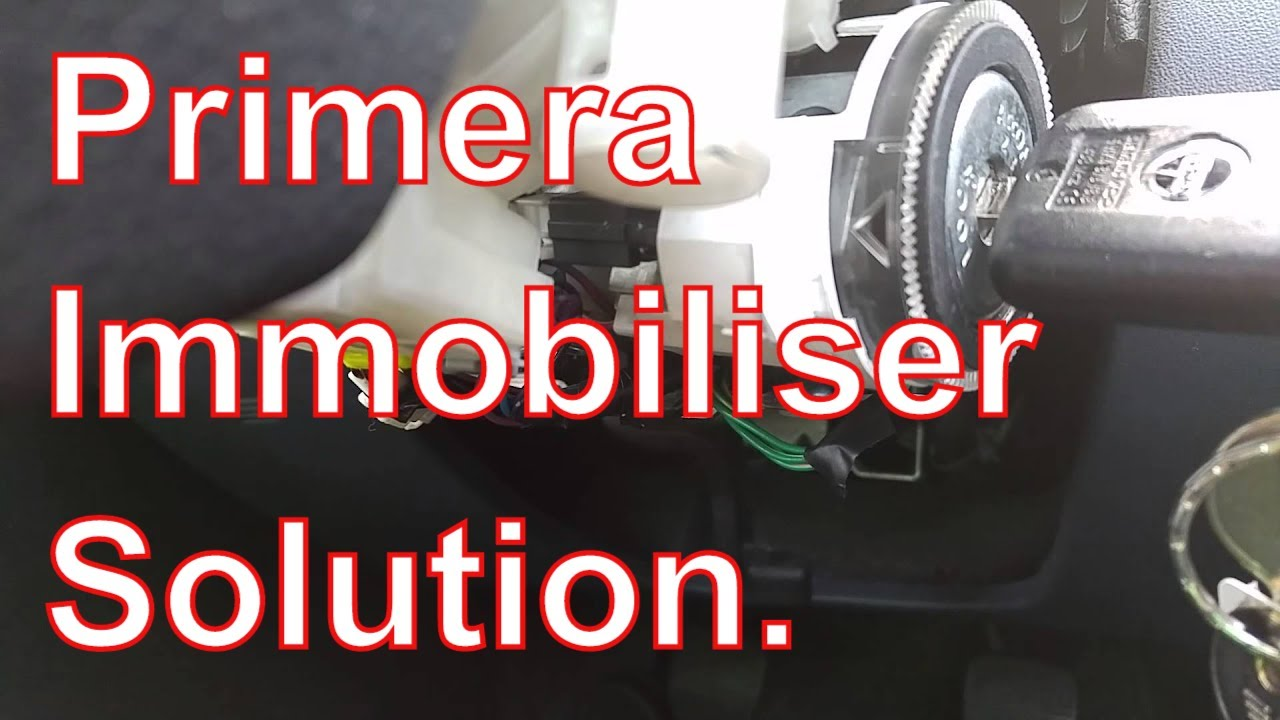 Nissan Primera P12 Ignition Immobiliser Fault Solution
