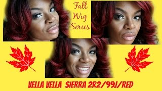 Fall Wig  Series : Vella Vella  Sierra  color 2R2/99J/RED