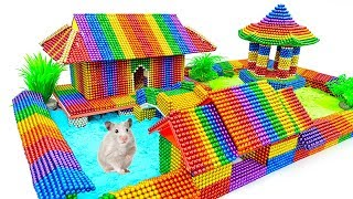 DIY - Build Chinese Ancient Mansion For Hamster With Magnetic Balls (Satisfying) - Magnet Balls
