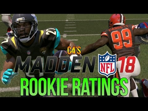 Madden 18 Rookie Ratings for ALL 1ST ROUND PICKS | c4's Ratings Predictions