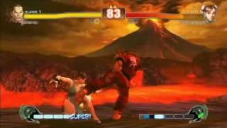 single match: Dan vs. Chun Li Hibiki-san (Dan) vs. unknown player (...