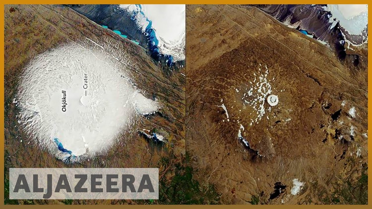 AlJazeera English:Iceland commemorates first glacier that 'died' by climate change