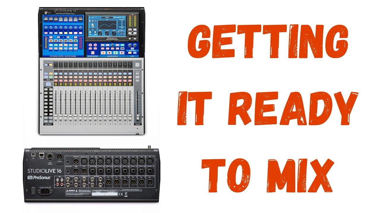 Routing DAW Tracks to the Presonus Studiolive Series III Mixer