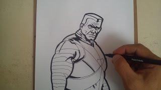 Como dibujar a colossus DEADPOOL/ HOW TO DRAW A COLOSSUS deadpool