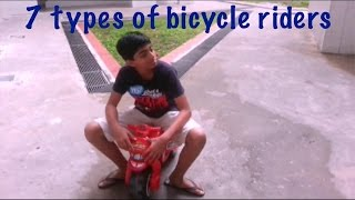 7 types of bicycle riders