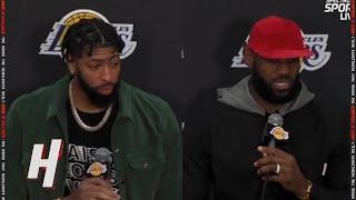 Фото Anthony Davis \u0026 LeBron James Postgame Interview - Suns Vs Lakers | 2021-22 NBA Season