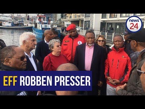 WATCH LIVE: EFF honour Kathrada 'death wish' on Robben Island