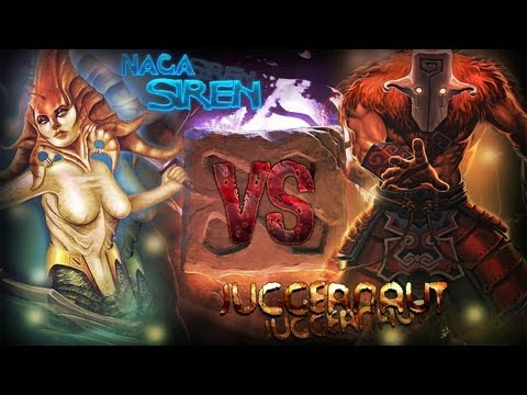 видео: dota2 battle - naga siren vs juggernaut ПвП или Зассал?