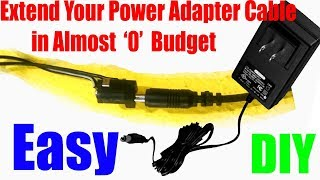 How To : Extend a Power Adapter Cable DIY