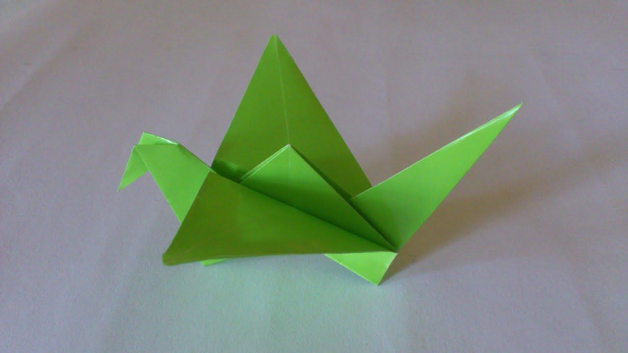Cara Membuat Origami Burung Bangau Sayap Bisa Di kepakkan ...