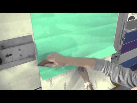 Как клеить самоклеющуюся пленку на стену
