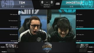 epic tsm bjergsen cassiopeia vs imt pobelter ryze game 1 highlights 2017 na lcs spring w1d3