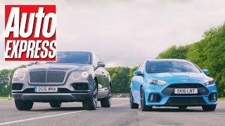 Ford Focus RS vs Bentley Bentayga: a true David vs Goliath drag race
