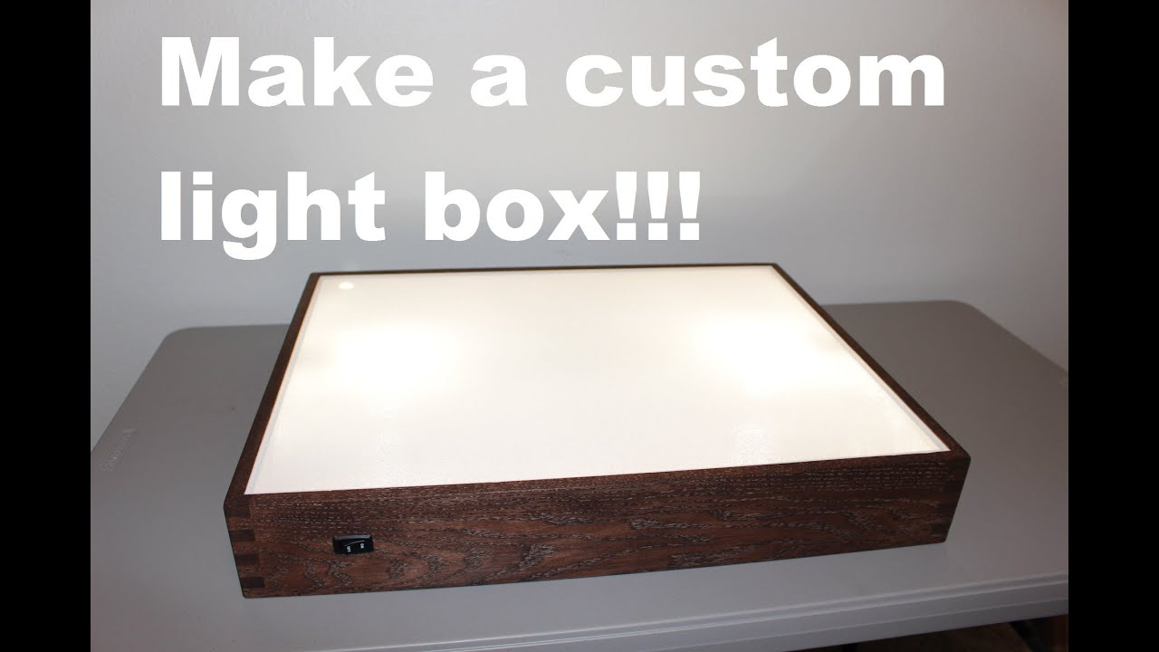 How To Build A Light Box Youtube